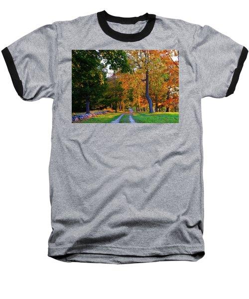 Winding Road In Autumn Baseball T-Shirt