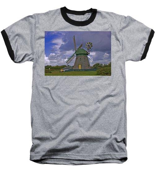 Windmill Amrum Germany Baseball T-Shirt
