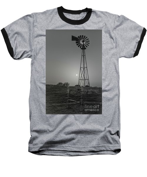 Windmill At Dawn Baseball T-Shirt by Robert Frederick