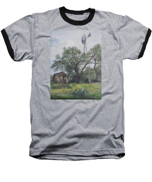 Windmill At Genhaven Baseball T-Shirt by Connie Schaertl