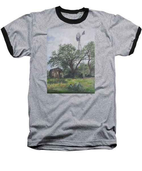 Windmill At Genhaven Baseball T-Shirt