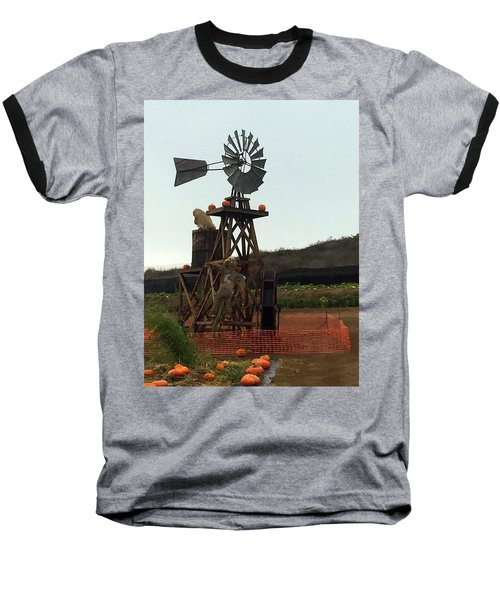 Windmill Baseball T-Shirt by Enzie Shahmiri