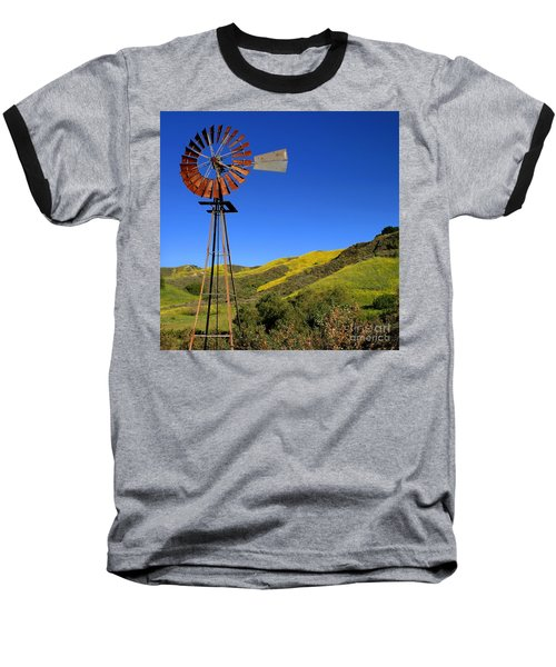 Baseball T-Shirt featuring the photograph Windmill by Henrik Lehnerer