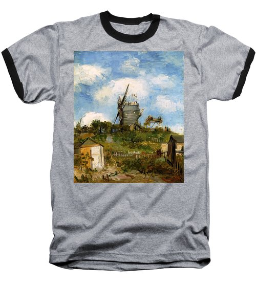 Windmill In Farm Baseball T-Shirt by Sumit Mehndiratta
