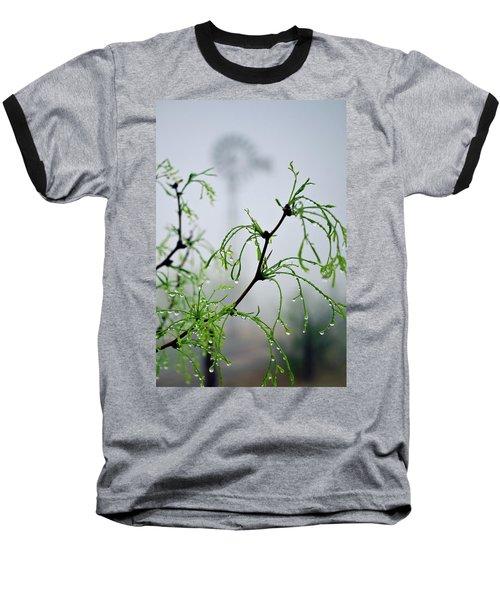 Windmill In The Mist Baseball T-Shirt