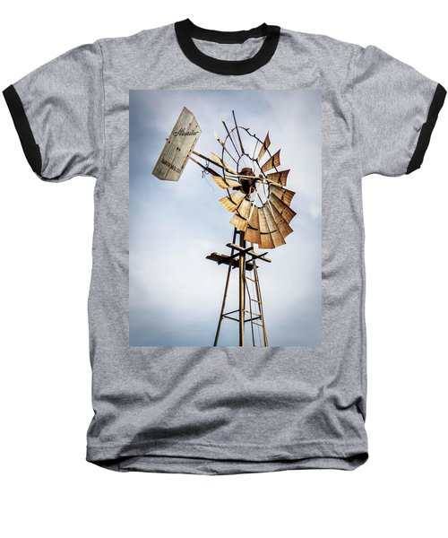 Windmill In The Sky Baseball T-Shirt