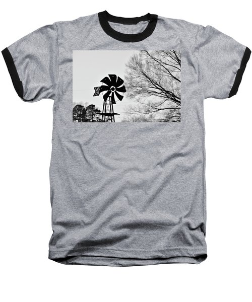 Windmill On The Farm Baseball T-Shirt