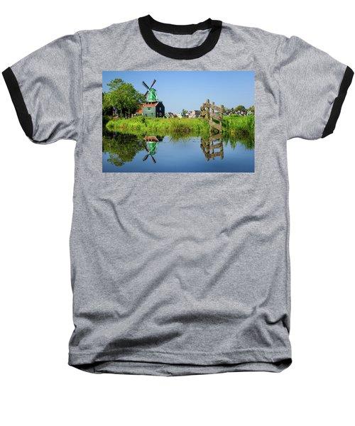 Windmill Reflection Baseball T-Shirt