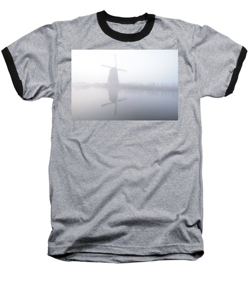 Baseball T-Shirt featuring the photograph Windmill Reflection by Phyllis Peterson