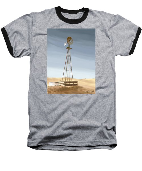 Baseball T-Shirt featuring the painting Windmill by Terry Frederick