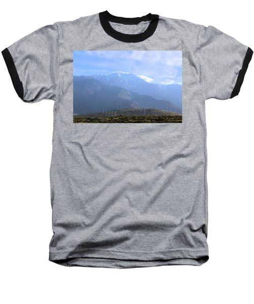Windmills At San Jacinto Mt Baseball T-Shirt