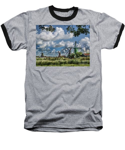 Windmills Of Holland Baseball T-Shirt