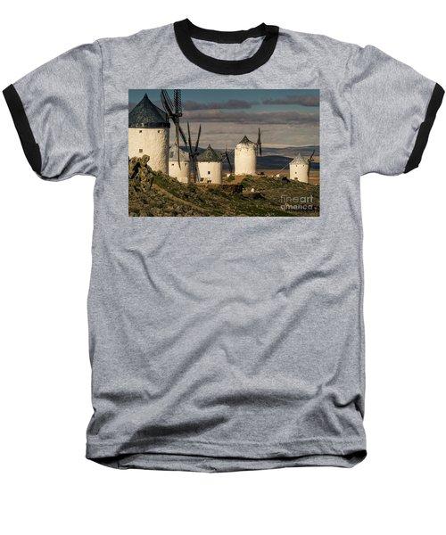 Baseball T-Shirt featuring the photograph Windmills Of La Mancha by Heiko Koehrer-Wagner