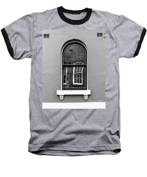 Baseball T-Shirt featuring the photograph Window And Window by Perry Webster
