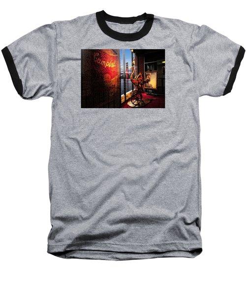 Window Art Baseball T-Shirt by Steve Siri