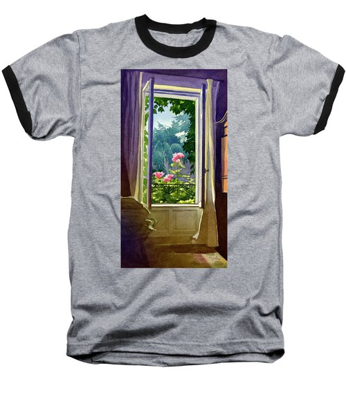Window At Clermont Baseball T-Shirt