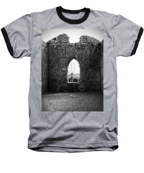 Window At Fuerty Church Roscommon Ireland Baseball T-Shirt