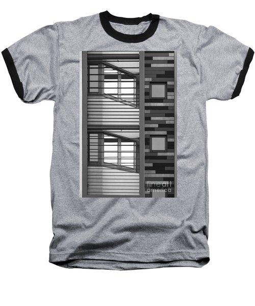 Vertical Horizontal Abstract Baseball T-Shirt
