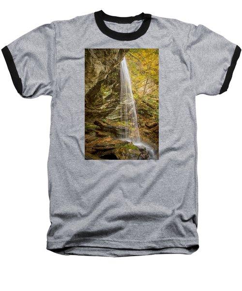 Baseball T-Shirt featuring the photograph Window Falls In The Autumn by Bob Decker