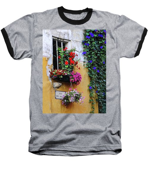 Window Garden In Arles France Baseball T-Shirt by Dave Mills