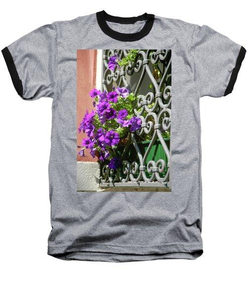 Window In Bloom Baseball T-Shirt