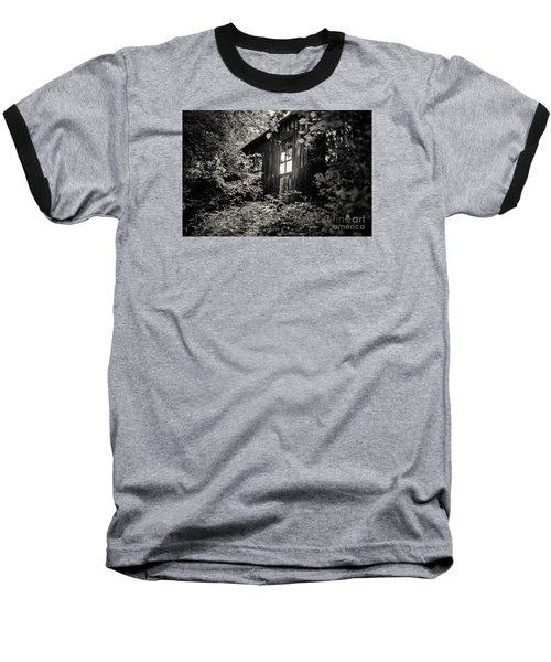 Window In The Woods Baseball T-Shirt by Randall  Cogle