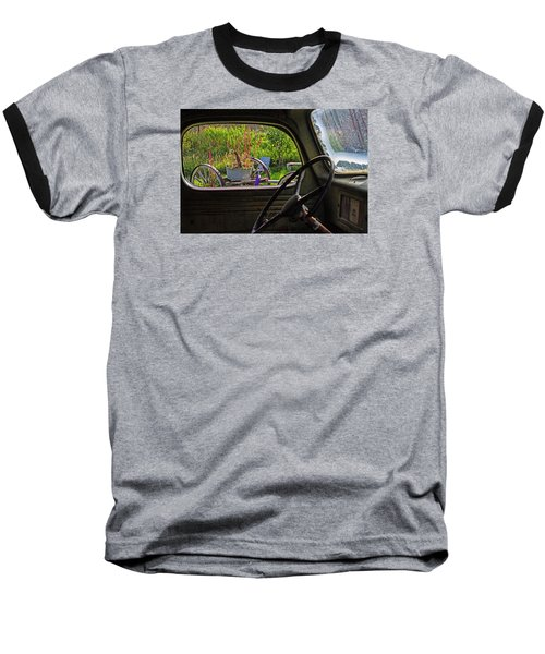 Window In Time Baseball T-Shirt by Alana Thrower