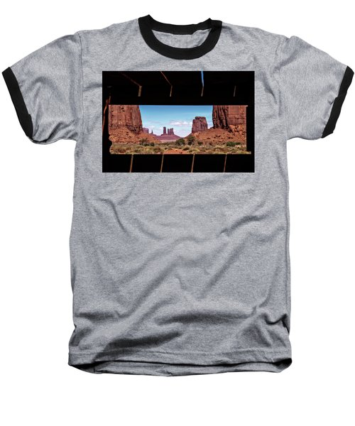 Baseball T-Shirt featuring the photograph Window Into Monument Valley by Eduard Moldoveanu