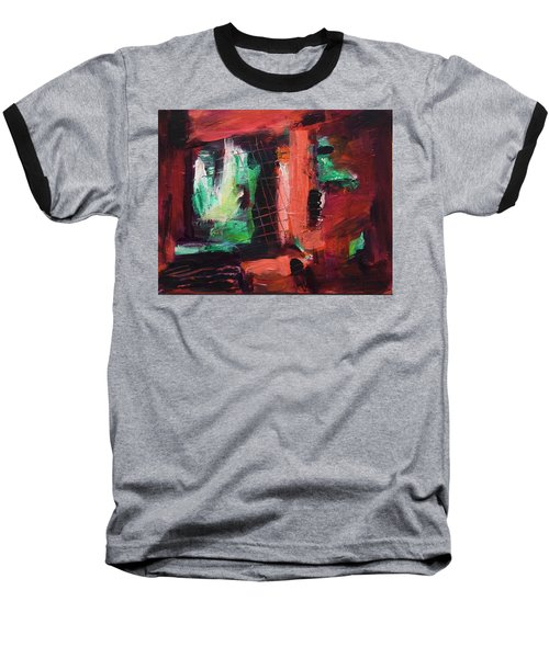 Baseball T-Shirt featuring the painting Window Original Acrylic Painting by Yulia Kazansky