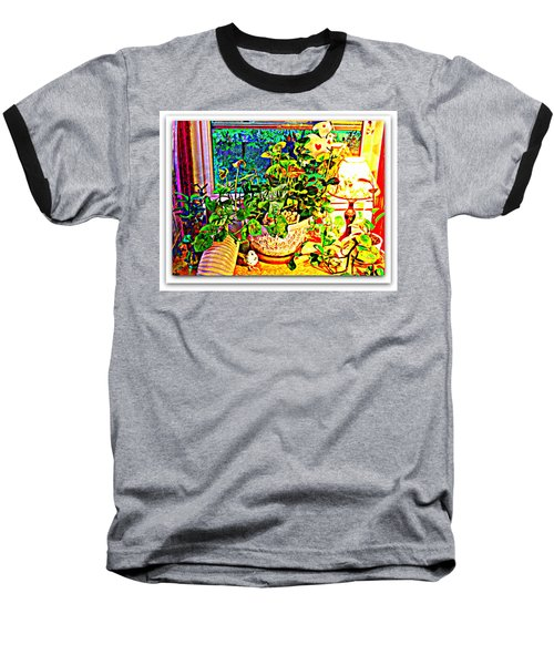 Window Plant Baseball T-Shirt