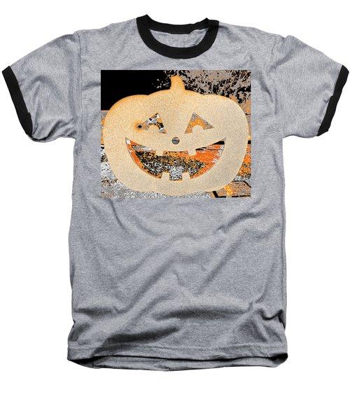 Window Pumpkin #3 Baseball T-Shirt