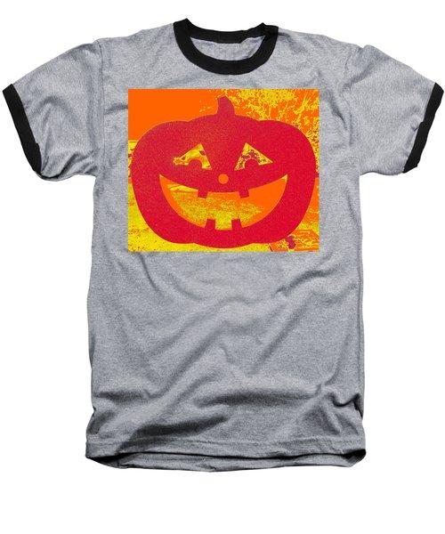 Window Pumpkin #4 Baseball T-Shirt
