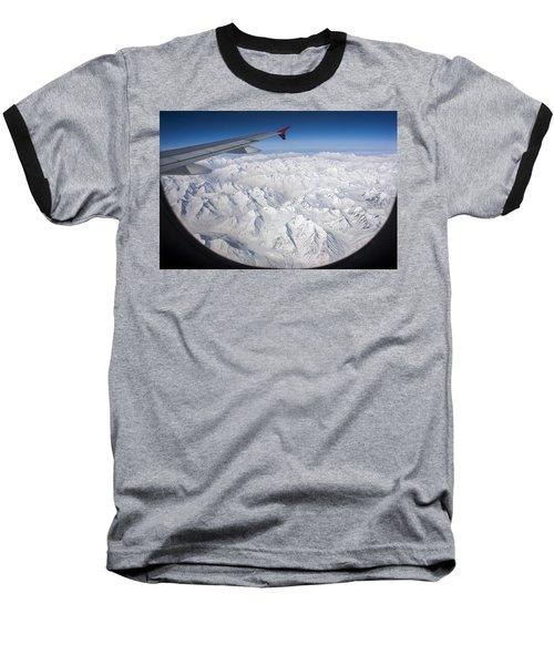 Window To Himalaya Baseball T-Shirt by Hitendra SINKAR