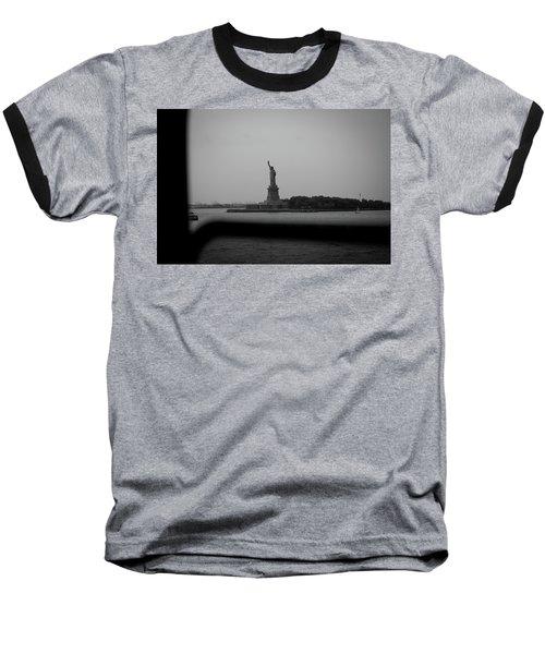 Window To Liberty Baseball T-Shirt by David Sutton