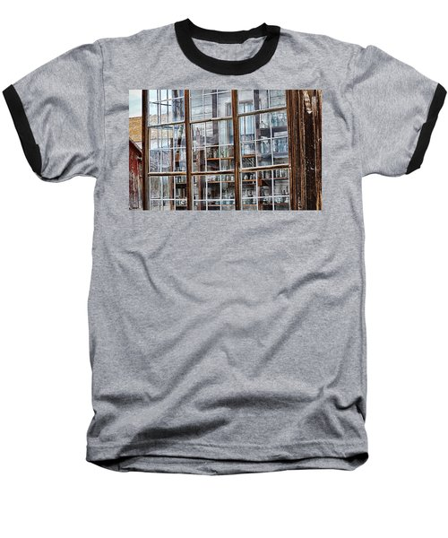 Window To The Past Baseball T-Shirt by AJ Schibig