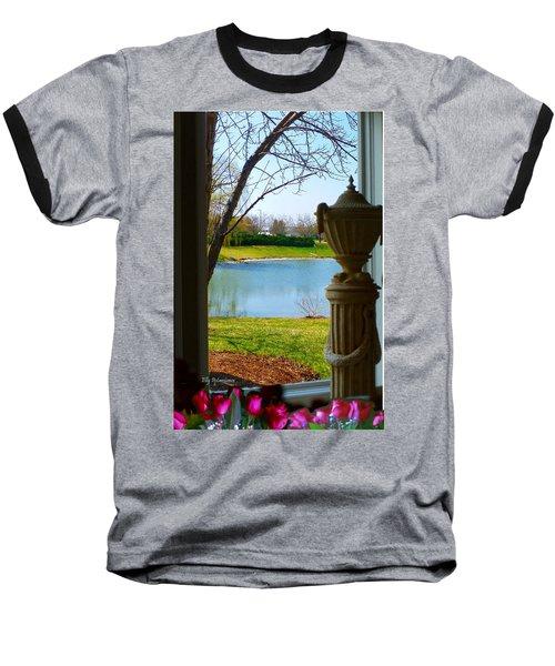 Window View Pond Baseball T-Shirt