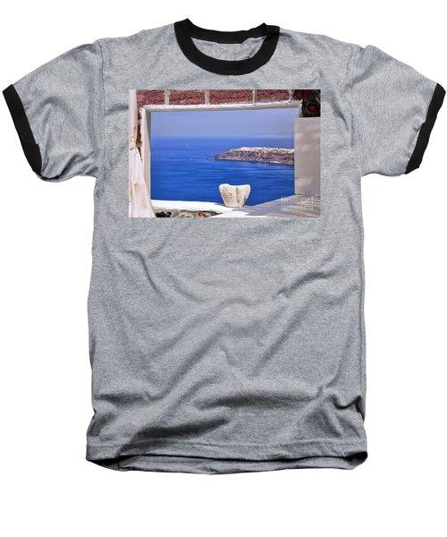 Window View To The Mediterranean Baseball T-Shirt