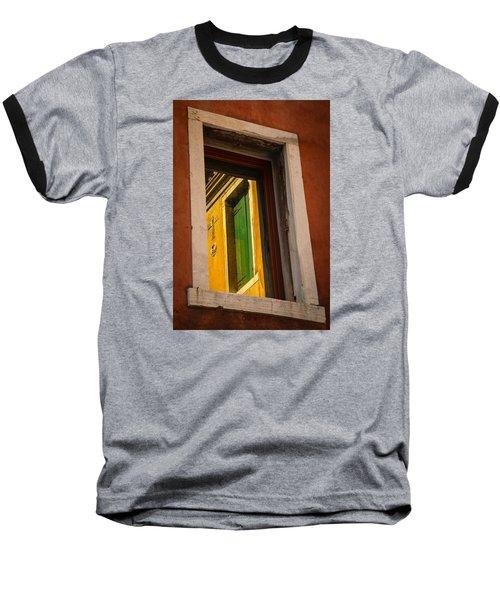 Baseball T-Shirt featuring the photograph Window Window by Kathleen Scanlan