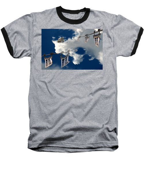 Baseball T-Shirt featuring the photograph Windows And The Sky by Christopher Woods