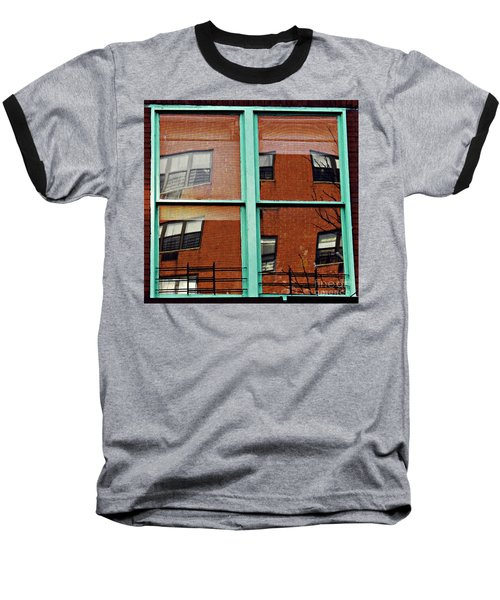 Windows In The Heights Baseball T-Shirt by Sarah Loft