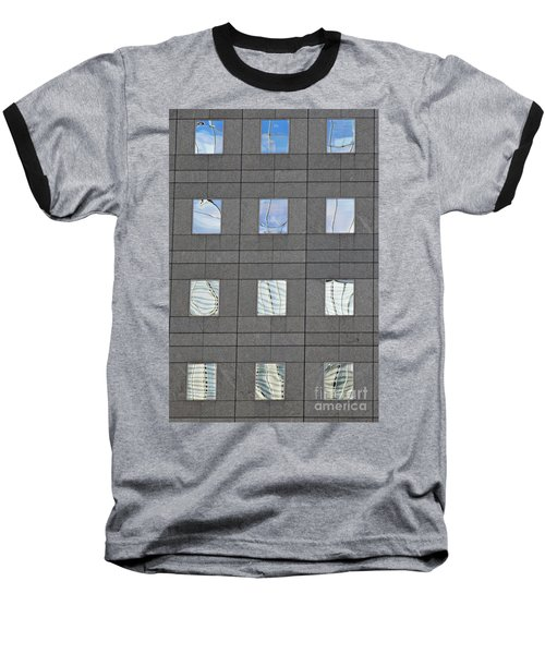 Baseball T-Shirt featuring the photograph Windows Of 2 World Financial Center   by Sarah Loft