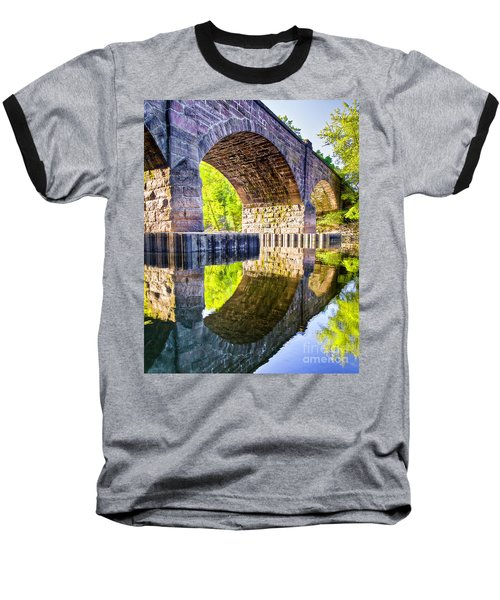 Baseball T-Shirt featuring the photograph Windsor Rail Bridge by Tom Cameron