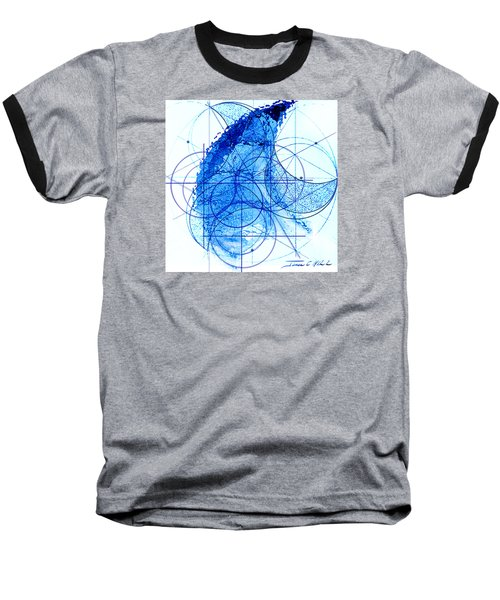 Baseball T-Shirt featuring the painting Windstorm by James Christopher Hill