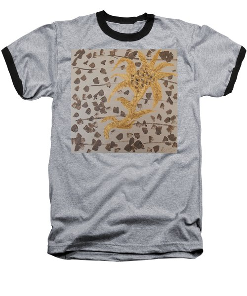 Windswept Golden Plantae #4 Baseball T-Shirt by Rachel Hannah