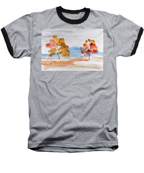 Windy Autumn Colours  Baseball T-Shirt