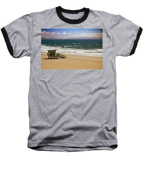Baseball T-Shirt featuring the photograph Windy Beach Day by Joseph Hollingsworth