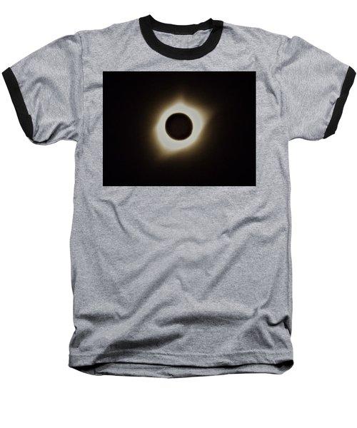 Windy Corona During Eclipse Baseball T-Shirt