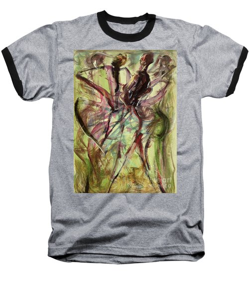 Windy Day Baseball T-Shirt by Ikahl Beckford