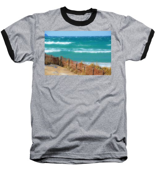 Windy Day On Lake Michigan Baseball T-Shirt