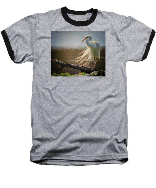 Windy Egret  Baseball T-Shirt